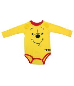 Body-Manga-Longa-em-Suedine---Ursinho-Pooh---Amarelo-e-Vermelho---Disney---M