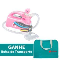 Inalador-Nebulizador-Ultrassonico-Pulmosonic-Star-Premium---Rosa-Com-Bolsa-de-Transporte---Soniclear