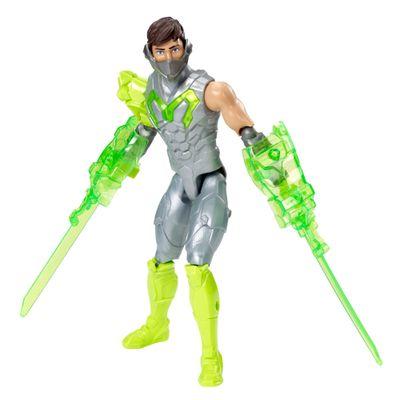Boneco-Articulado---30-Cm---Max-Steel---Forca-Turbo---Max-Espada-Dupla---Mattel