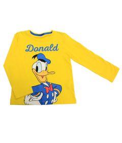 Camiseta-Manga-Longa-em-Meia-Malha---Pato-Donald---Amarelo---Disney---1