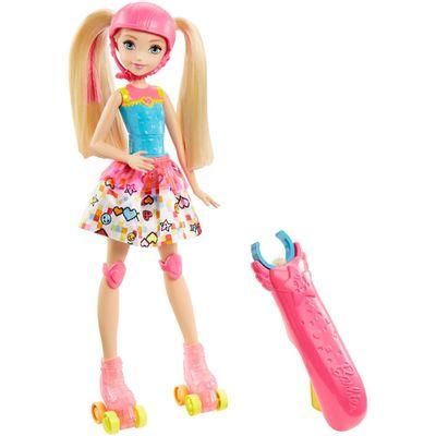 Boneca-Barbie-Articulada-30-Cm---Barbie-Video-Game-Hero---Patinadora-com-Luzes---Mattel