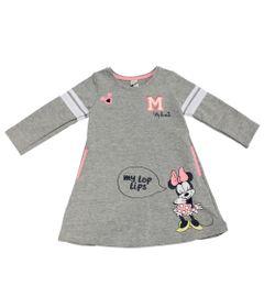 Vestido-Manga-Longa-em-Moletom---Minnie---Cinza-Mescla-Rosa-e-Branco---Disney---1