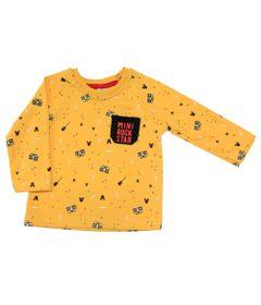 Blusao-em-Suedine-com-Bolso---Mickey---Amarelo-Preto-e-Vermelho---Disney---P
