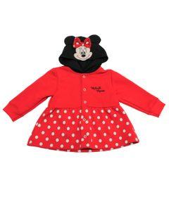 Casaco-de-Moletom-sem-Felpa---Minnie---Preto-e-Vermelho---Disney---P
