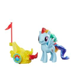 Conjunto-My-Little-Pony---Mini-Figura-com-Veiculo---Rainbow-Dash---Hasbro