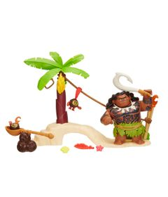 Playset-Mini-Barco---Moana-e-Amigos---Maui---Disney---Hasbro