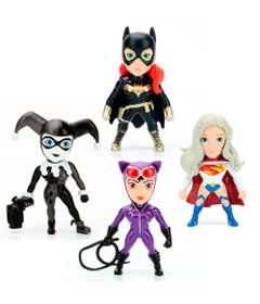 Kit-4-Figuras-Colecionaveis-6-Cm---Metals---DC-Comics---Super-Hero-Girls---DTC