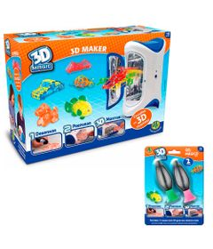 Kit-3D-Maker---Playset-e-Conjunto-com-2-Refis---3D-Magic---DTC