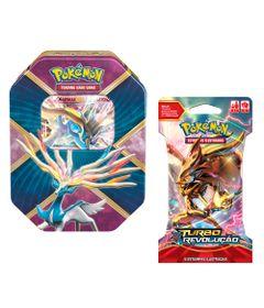Kit-Decks-Pokemon---Lata-Pokemon-EX---Xerneas-e-Blister-Turbo-Revelacao---XY8-Sortido---Copag