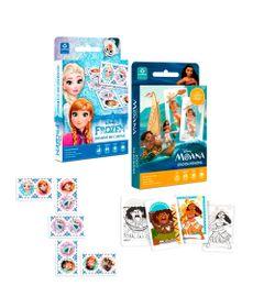 Kit-Jogos-de-Cartas---Disney---Domino-de-Cartas-Frozen-e-Jogo-da-Memoria-Moana---Copag