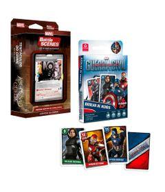 Kit-Deck-Battle-Scenes-e-Jogo-Batalha-de-Herois---Disney---Marvel---Ascensao-e-Queda---Mercenario-e-Capitao-America---Copag