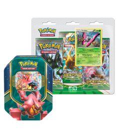 Kit-Decks-Pokemon---Lata-Pokemon-EX---Volcanion-e-Blister-Triplo---Vivilion---Copag