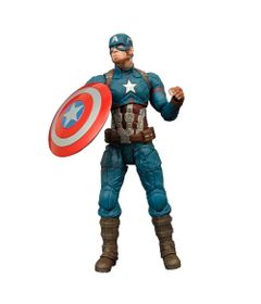 Figura-Colecionavel-18-Cm---Disney---Marvel---Select---Capitao-America---Iron-Studios