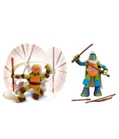 Kit-Bonecos-Articulados---Tartarugas-Ninja---Michelangelo-e-Leonardo-Mystic---Multikids