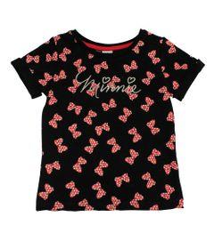 Blusa-Manga-Curta-em-Cotton---Minnie---Preto-e-Vermelho---Disney