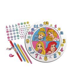 Conjunto-de-Artes---Relogio-para-Colorir---Disney---Princesas---New-Toys