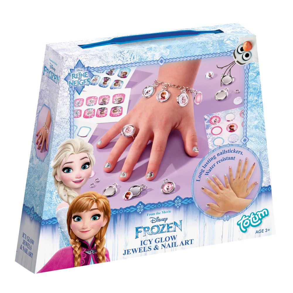 Conjunto de Atividades - Jóias e Adesivos de Unha - Disney - Frozen - New Toys