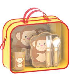 Kit-Lancheira-Zoo---Macaquinho---Girotondo-Baby