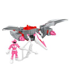 Figura-Mighty-Morphin-Power-Rangers---Zord-Rangers---Ranger-Rosa-e-Pterodactilo---Fisher-Price