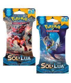 Kit-Cards-Pokemon---Sol-e-Lua---Blister-Unitario---Lunala-e-Incineroar---Copag
