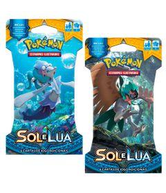 Kit-Cards-Pokemon---Sol-e-Lua---Blister-Unitario---Primarina-e-Decidueye---Copag