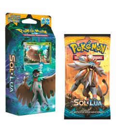 Kit-Cards-Pokemon---Sol-e-Lua---Starter-Deck-Sombra-Florestal-e-Blister-Unitario-Solgaleo---Copag