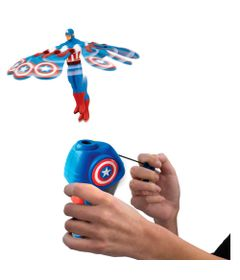 Lancador-e-Figura---Mini-Flying-Heroes---Disney---Marvel---Capitao-America---DTC