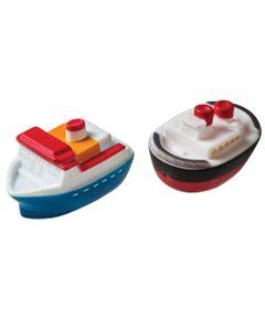 Brinquedo-para-Banho---Barquinhos---Branco-Azul-e-Vermelho---Girotondo-Baby