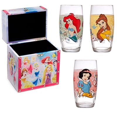 Kit-Disney---Porta-Joias-das-Princesas-e-Conjunto-de-Copos-Decorados---430Ml