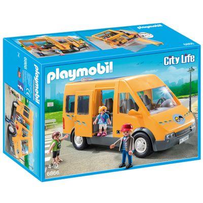 Playmobil-City-Life---Veiculo-e-Mini-Figuras---Van-Escolar---6866---Sunny