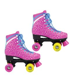 Patins-Quad-Roller---Heart---Pink---TAM-34---DTC