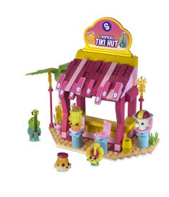 Playset-e-Mini-Figuras---Shopkins---Kinstructions---Tiki-Hut---DTC