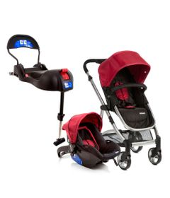 Travel-System---Epic-Light---Cherry-e-Base-para-Bebe-Conforto-Terni-com-IsoFix---Infanti