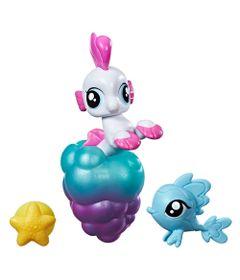 Mini-Figura-My-Little-Pony-com-Acessorios---Mini-Ponei-Sereia---Sea-Poppy---Hasbro
