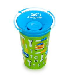 Copo-Grande---266-ml---Miracle-360---Deco---Azul-e-Verde---Munchkin
