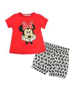 Pijama-Manga-Curta-em-Meia-Malha---Vermelho-e-Branco---Minnie---Disney---1