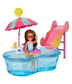 Playset-e-Mini-Boneca-Barbie---Chelsea-com-Piscina-e-Escorredor---Mattel