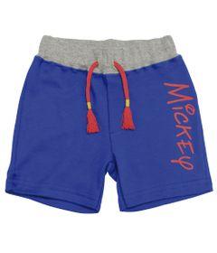 Bermuda-em-Suedine---Azul-Royal-e-Cinza-Mescla---Be-Mickey---Disney---P