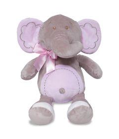 Pelucia---35-cm---Elefantinho-Meu-Carinho---Rosa---Buba