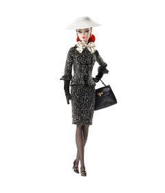 Boneca-Barbie-Colecionavel---30-Cm---Barbie---Black---White---Tweed-Suit---Mattel