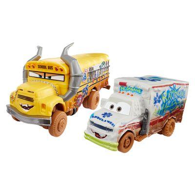 Kit-de-Carrinhos---Crazy-8-Crashers---Disney---Carros-3---Miss-Fritter-e-Dr.-Damage---Mattel