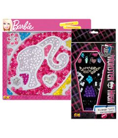 Kit-de-Micangas-para-Pulseiras---Monster-High-e-Barbie---Fun