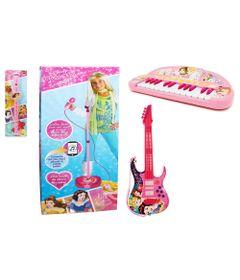 Kit-de-Instrumentos-Musicais---Princesas-Disney---Microfone-com-Base---Guitarra---Teclado---Flauta---Toyng