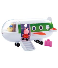 Veiculo-e-Mini-Figuras---Peppa-Pig---Aviao-da-Peppa---DTC
