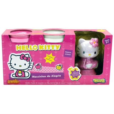Massinha Hello Kitty - Massinhas da Alegria - Rosa - Sunny